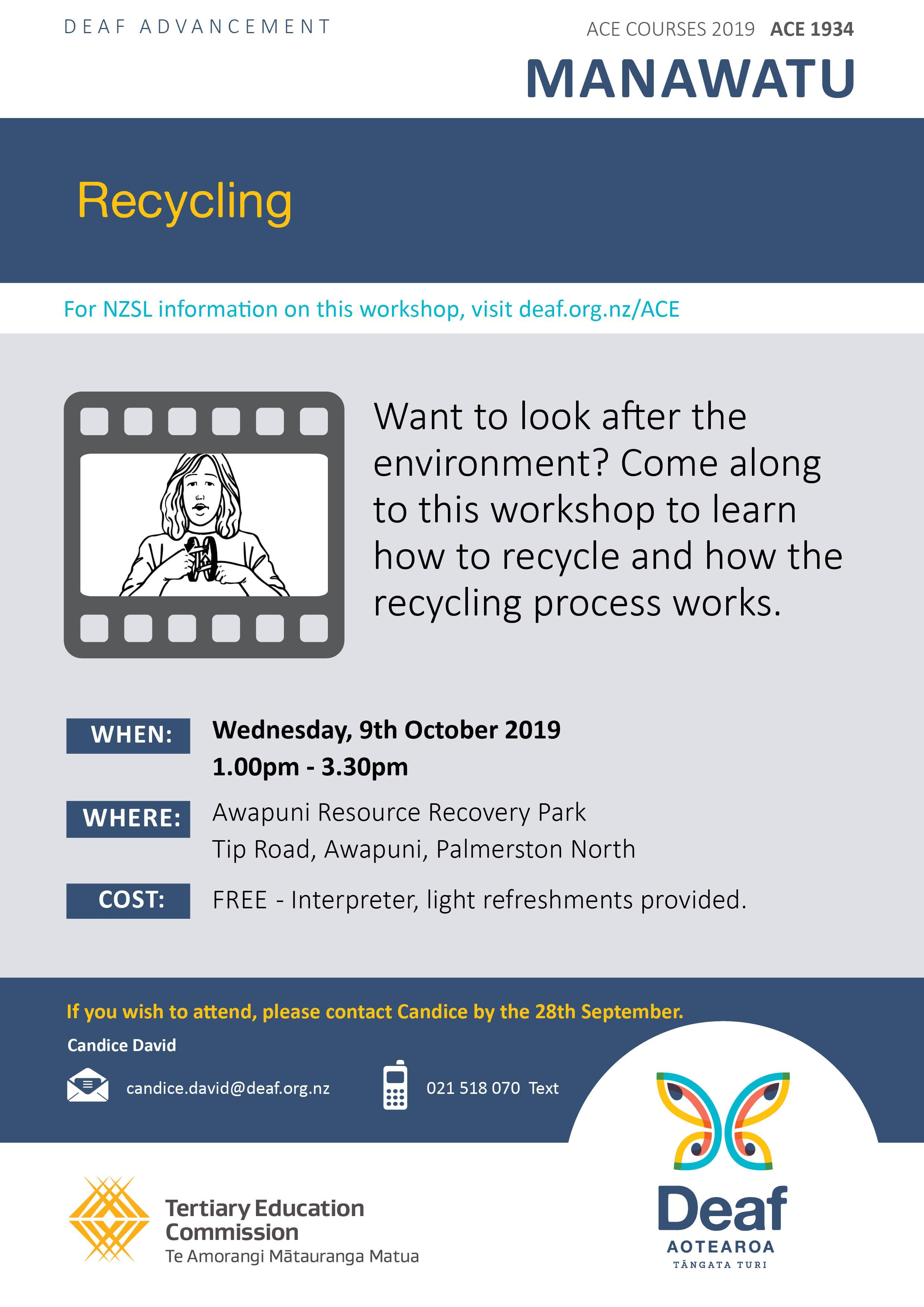 ACE Course Manawatu Recycling 2019